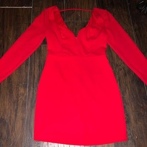 Red long sleeve Express mini